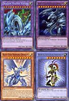 Yugioh Blue-Eyes Ultimate Dragon, Master Knight, Shining, Black Luster Soldier