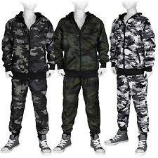 Jogginganzug Camouflage Freizeit Sportanzug Kinder Set: Jacke + Hose #Tarn 301