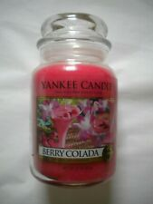 New 22 Ounce YANKEE CANDLE Jar Candle BERRY COLADA