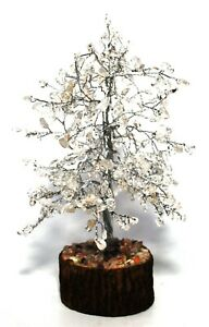 Crystal For Immune System - Clear Quartz Gemstone Tree Healing Decoration Reiki