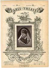 Lemercier, Paris-Théâtre, Marie Belval, chanteuse Vintage albumen Print Tirage