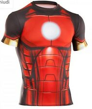 $60 NWT UNDER ARMOUR ALTER EGO COMPRESSION IRON MAN FULL SUIT RED/GOLD L