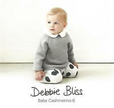 Baby Cashmerino Book 6 Knitting Patterns Debbie Bliss Sweaters Jackets Hoodies +