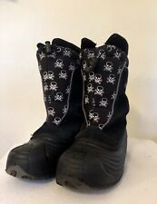 Harsh Skully Winter Snow Boots Black & White Youth Fully Lined Size 4