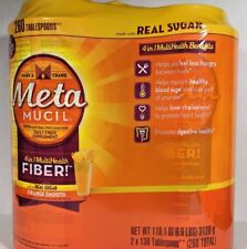 MetaMUCIL 4 in 1 MultiHealth FIBER, Real Sugar, 260 Tablespoons 110 oz / 6.9 lbs