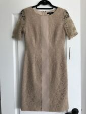 Alex Marie Beige Lace Dress Size 4 NWT