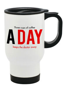 Three Cup Of Coffee A Day Keep The Thermal Travel Mug Flask Coffee Tea Mug 151