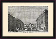 Xilografia 1836 vista Palazzo di Marmo a San Pietroburgo Russia Antonio Rinaldi