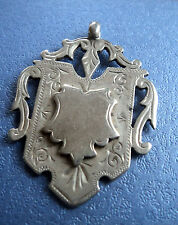 Large Sterling Silver Medal / Fob - Henry Pope h/m Birmingham 1899  not engraved
