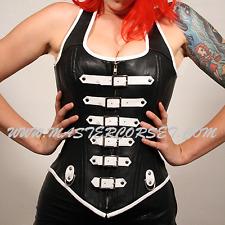 Genuine Leather Corset Dress  Steel Bone leer korsetkleding Leder Korsettkleid