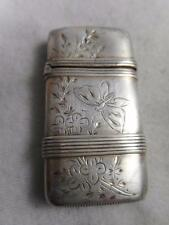 VICTORIAN R WALLACE STERLING AESTHETIC BUTTERFLY FLORAL MATCH SAFE VESTA CASE