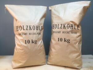 2 x 10 Kg Buchengrillkohle Holzkohle Grillkohle Buchenkohle Premiumqualität