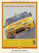 1995 DICK JOHNSON EF FORD FALCON SHELL HELIX A3 POSTER AD ADVERTISEMENT ADVERT