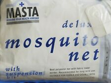 MASTA DELUXE MOSQUITO SINGLE OR DOUBLE BED WITH SUSPENSION KIT NEW