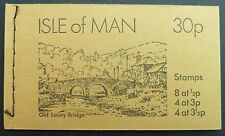 "ISLE MAN MH MARKENHEFTCHEN OLD BOOKLET ""OLD LAXEY BRIDGE"" FROM 1974 d1129"