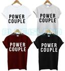 POWER COUPLE T SHIRT SET 2 PACK WIFEY COUPLE HUBBY GIFT PRESENT MARRIAGE UNISEX