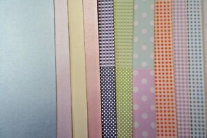 10 x A4 Clearance Card Craft Pack incl Gingham