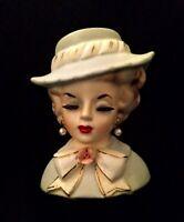 vintage lady head vase