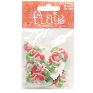 "Mermaid Blumenthal Lansing Flair Originals Buttons 18 Buttons Per Package 1"""