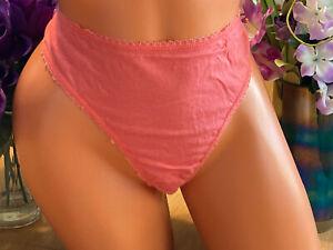 Secret Treasures Coral Plus Size 10/3XL Cotton Thong Panties NWOT B