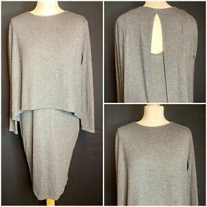 Maison De Nimes Ladies Grey Jersey Dress Size 12 (D4)