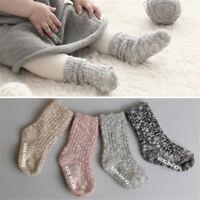 4 Pairs Newborn Baby Boy Girl Cotton Socks Infant Toddler Non Slip Soft Sock New