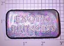 Exotic Princess Sparkly Reflective Iron-on Patch Bling Precious Girl Lady Woman