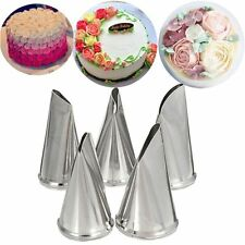 5 Pcs/Set Rose Cake Decorating Tips Pastry Icing Piping Nozzles Cream Petal
