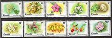 Flowers - Rwanda 1981 Flowers set fine fresh MNH
