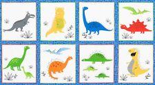"Fabric Baby Dinosaur on Cotton Panel 24""x42"""