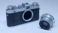 USSR FED ZARYA Rangefinder Vintage 35mm Film Camera Industar-26M 50mm f/2.8 Lens
