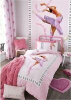 Ballerina Pink Girls Dancer Bedding Duvet Cover Curtains Bedspread Kids Bedroom