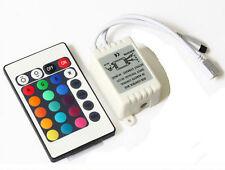 CENTRALINA RGB CONTROLLER IR INFRAROSSI KIT TELECOMANDO PER STRISCE A LED RGB 12