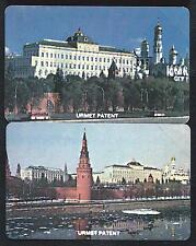 RUSSIE MRTC first 25 et 50u Moscow view Tower et Kremlin Russia MINT URMET NEUVE