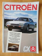 CITROEN CX range 1987 UK Mkt prestige sales brochure
