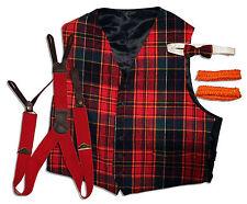 Captain Kangaroo Screen-Worn Plaid Vest and Suspenders