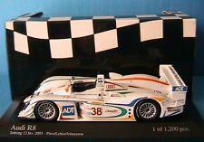 AUDI R8 #38 SEBRING 12 HOUR 2003 PIRRO LEHTO JOHANSSON MINICHAMPS 400031338 1/43