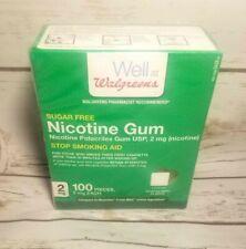 Walgreens Nicotine Gum 2mg Sugar Free MINT 100 Pc Exp 03/19 Factory Sealed