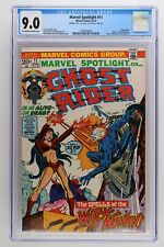 "Marvel Spotlight #11 - Marvel 1973 CGC 9.0 Ghost Rider. ""Death"" of Witch-Woman."