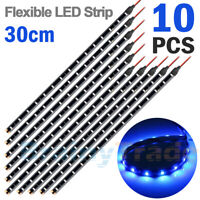 "10x Blue 12"" LED Boat Navigation Light Flexible Strips Light 5050 Waterproof 12V"