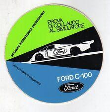 Stickers adesivo pubblicitario vintage - 59° SALONE INT. DELL'AUTO FORD C-100
