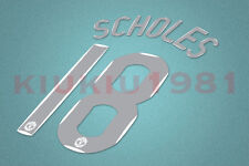 Manchester United Scholes #18 2007-2008 CL Homekit Nameset Printing