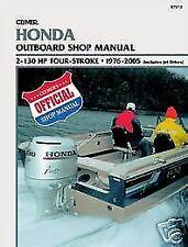Honda Marine 2-130hp 1976-2007 Outboard Shop Service & Repair Manual Boat Book