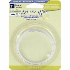 Artistic Wire Flat Wire, 21 Gauge, 3mm Wide, 3 Foot Coil, Non Tarnish Silver