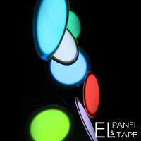 3cm EL Panel Circle -  Electroluminescent Glow Paper Foil Disc Sheet-  8 colours