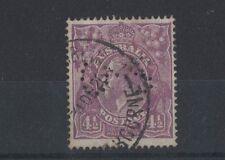 1924 Australia, KGV, SG 084, 4 1/2d Violet, OS Perfin, Fine Used