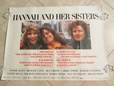 Hannah and her Sisters movie poster - Woody Allen, Mia Farrow, Dianne Wiest
