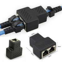 Cable Adapter Connector LAN RJ45 Splitter 1 To 2 Ways Extender Plug Ethernet