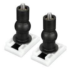 V3A1 2pcs DIY Plastic Toilet Seat Screws Fixings Fit Toilet Seats Hinges Repair