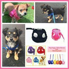 XXXS XXS XS Puppy Dog Harness Teacup Chihuahua Kitten Adjustable Chest Straps